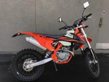 KTMs 2019 500 EXC-F was built with the serious off-road enthusiast in mind. 510cc of power, a 38-inch seat height. KTM in what has become a highly competitive segment of the motorcycle market. Built in Austria but ridden the world over, the 500 EXC-F was designed to be taken straight off the showroom floor and ridden away from the truck and into the elements - a 2.3-gallon tank provides fuel for the journey. Of course, a wide variety of mods for the 500 EXC-F are available through a number of aftermarket companies in order to help you fine-tune this KTM to your exact liking, although some of these changes may render it a competition-only machine.