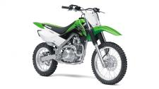 THE KLX140 OFF-ROAD MOTORCYCLE IS FUN FOR BOTH KIDS AND ADULTS ALIKE. IT FEATURES A PUSH BUTTON ELECTRIC START, SMOOTH POWER AND A CHASSIS THAT CAN TAKE ON TRAILS WITH CONFIDENCE. Push button electric start High-revving 144cc air-cooled, SOHC, 4-stroke engine 5-speed transmission with manual clutch Low 30.7-inch seat height 7.1 inches of front and rear suspension travel to soak up bumps Front and rear disc brakes provide strong progressive stopping power Taller (19F, 16R) wheels than the KLX140 (17F, 14R) contribute to a taller 31.5 inch seat height and higher 10.0 inch ground clearance 7.1 inches of front and rear suspension travel to soak up bumps Front and rear disc brakes provide strong progressive stopping power