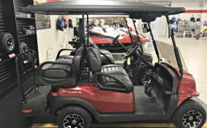 Club Car Onward 4 Passenger Electric.  As equipped with roof, windshield, mirrors, Bluetooth sound system, rear under seat storage, ALL ELECTRIC, only $10,099 as equipped!