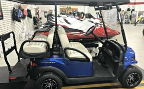 Club Car Onward 4 Passenger Gas. As equipped with tinted windshield, roof, 5 panel rearview mirror & side mirrors, rear underseat storage, all for $10,299!