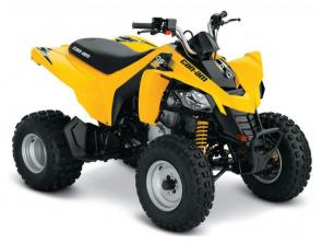 An ATV for riders age 14 and up, this vehicle gives promising riders a chance to show even more of their stuff.