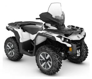 Cast the cold aside with standard windshield, heated grips, and mudguards—thats the Outlander North Edition ATV.