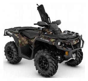 Exclusive Mossy Oak Break-Up Country camouflage and the most powerful ATV engine at 91 hp will have you itching to take the 2019 Outlander Mossy Oak Hunting Edition out scouting.