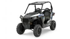 "Just because the RZR® 900 is 50″ wide doesn't mean we skimped on the power. It features the same class leading 75 HP ProStar® 900 engine as the RZR® S 900. Specifically tuned to provide maximum power without compromising drivability for razor sharp trail focused performance with hallmark ProStar® features like dual overhead cams, 4 valves per cylinder and electronic fuel injection. The modest weight and 75HP ProStar® 900 engine in the All-New RZR® 900 boasts loads of power and acceleration thanks to an incredible power to weight ratio of 6.5 HP to every 100 lbs of dry weight. 0 to 40 mph in 3.76 seconds made possible with the 75 HP ProStar® 900 engine giving you lightning quick acceleration taking you from corner to corner on the trail. With 10″ of suspension travel in the front and rear, and pre-load adjustable ZF Sachs Shocks the RZR® 900 Suspension is tuned for exactly the way you ride. The geometry designed for 50″ terrain gives you a performance based machine that's ready to tackle the trail. Up to 11″ of ground clearance allows you to navigate rocky trails and everything they throw at you with confidence. A long 79″ wheelbase gives you a smooth, well balanced ride for you and your passenger while maintaining that narrow 50"" trail capable width. With a 50"" width, just 2"" wider than many ATVs, the RZR® 900 goes where other Side x Sides can't. It's the best trail-capable Side x Side on the market. The RZR® 900 features a narrow 13.61 ft turning radius to navigate those tight trails. The High Performance True On-Demand All-Wheel Drive System features a close ratio final drive to keep the front wheels pulling stronger and longer maximizing power delivery to the ground, even on the loosest terrain. The system provides increased traction without sacrificing steering effort to provide unmatched point-and-shoot handling."