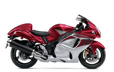 The Suzuki Hayabusa is quite simply the Ultimate Sportbike. Twist the throttle and it responds with awesome acceleration and crisp throttle response in every gear with an unbelievable top-end charge. Thanks to a lightweight and rigid twin-spar aluminum frame and state-of-the-art suspension, that performance is matched by equally impressive handling, providing exceptional control in tight corners, reassuring stability in sweeping turns and a smooth ride on the highway.