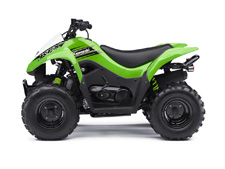 The KFX®90 ATV provides the ideal blend of size and performance for riders 12 and older that are stepping-up from a 50cc ATV or just getting started.