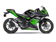 Start your sportbike passion here. Inspired by the Ninja supersport line, the lightweight Ninja 300 is a thrilling and agile ride powered by a compact but potent engine. Nimble handling and balanced suspension offer a silky-smooth ride, irresistible to experienced track riders as well as novice road riders looking to sharpen their skills.