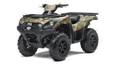 "A true outdoorsman needs a big-bore machine willing to track deeper and go further and the Brute Force 750 4x4i EPS Camo ATV can tackle the wilderness and its most tumultuous terrain.  749cc liquid-cooled, 90-degree V-Twin, DFI four-stroke w/ electric start Electric Power Steering (EPS) Continuously Variable Transmission (CVT) w/ HI/LO range and reverse Selectable 4WD with variable front differential control Double wishbone (6.7"") front and fully independent (7.5"") rear suspension Front disc brakes and rear sealed, oil-bathed, multi-disc brake 1,250-lbs. towing capacity and front and rear cargo racks Premium Realtree Xtra Green Camo bodywork"