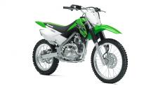 The KLX140L off-road motorcycle is the bigger brother to the KLX140 and provides a roomier riding position for taller riders. It features larger wheels, and a more performance-oriented suspension that stands up to the demands of more aggressive riding.  Push button electric start High-revving 144cc air-cooled, SOHC, four-stroke engine Taller (19F, 16R) wheels than the KX140 (17F, 14R) contribute to a taller 31.5 inch seat height 7.1 inches of front and rear suspension travel to soak up bumps Front and rear disc brakes provide strong progressive stopping power