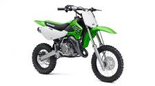 The KX65 motorcycle is a lightweight and high-performance closed-course minicycle that offers all the right tools for youth motocross riders getting their first taste of competitive riding.  High-performance liquid-cooled, two-stroke engine A low 29.9-inch seat height Large 33mm inner fork tubes provide great handling and 8.3 inches of wheel travel Adjustable Uni-Trak rear suspension with 9.4 inches of wheel travel Front and rear disc brakes