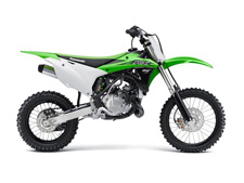 The KX85 motorcycle is a fixture on the podium at motocross races across the country. Delivering a winning combination of power, agility and adjustability. •High-performance liquid-cooled, two-stroke engine •Six-position adjustable handlebar mount adjusts riding positions for taller riders •Sophisticated suspension components with a 32.7 in. seat height •Front and rear disc brakes