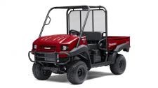 The MULE™ 4010 4×4 side x side is a powerful mid-size two-passenger workhorse that's capable of both putting in a hard day of work as well as touring around the property.  617cc fuel-injected, V-Twin engine produces reliable performance Selectable 2WD or 4WD with dual-mode rear differential Continuously Variable Transmission (CVT) w/ HI/LO ranges Capable of hauling up to 800 lbs. (steel cargo bed) and towing 1,200 lbs. Electric Power Steering (EPS) provides all-day driving comfort Backed by the industry-leading Kawasaki Strong 3-Year Limited Warranty