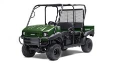 The MULE™ 4010 Trans4x4® side x side is a versatile mid-size two to four-passenger workhorse that's capable of both putting in a hard day of work as well as touring around the property.  Flexible convertible design lets you easily change from a four-seat crew mover to a two-seat cargo hauler, without the need for tools 617cc fuel-injected, V-Twin engine produces reliable performance Selectable 2WD or 4WD with dual-mode rear differential Continuously Variable Transmission (CVT) w/ HI/LO ranges Capable of hauling up to 800 lbs. (steel cargo bed) and towing 1,200 lbs. Electric Power Steering (EPS) provides all-day driving comfort Backed by the industry-leading Kawasaki Strong 3-Year Limited Warranty