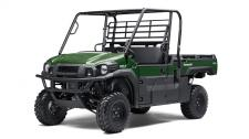 The MULE PRO-FX EPS side x side has Electric Power Steering that self adjusts to deliver the necessary steering assistance based on speed, while also damping kickback to the steering wheel.  Cargo Bed can fit a standard size 40×48 pallet with up to 1,000 lbs. of cargo capacity 812cc three-cylinder engine with massive torque, impressive pulling power, and smooth acceleration to tow heavy loads across rugged terrain The ladder-type construction welded frame optimizes flex and rigidity and strength while intelligent design features help protect vital components Independent front and rear suspension contribute to a smooth, comfortable ride Speed-sensitive EPS eases steering effort to provide all-day comfort and less driver fatigue Backed by the industry-leading Kawasaki Strong 3-Year Limited Warranty