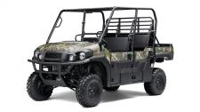 The MULE PRO-FXT Camo side x side is the ultimate hunting machine that helps you blend into your surroundings with Realtree Xtra Green Camo.  Versatile three- to six-passenger Trans Cab Powerful 812cc three-cylinder, liquid-cooled, fuel-injected (DFI) engine 60.8 AMPS of available alternator capacity for accessories Up to 2,000 lbs. of towing capacity and 1,000-lbs. hauling capacity* Speed-sensitive EPS eases steering effort to provide all-day comfort and less driver fatigue Premium Realtree Xtra Green Camo bodywork Backed by the industry-leading Kawasaki Strong 3-Year Limited Warranty