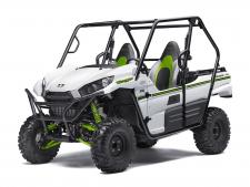 "The redesigned Teryx® side x side takes the combination of sport performance and essential utility to unprecedented levels.  783cc V-Twin engine with strong mid-range power delivery Durable ""Double-X"" frame construction Tilt steering, Electric Power Steering (EPS) and tight 16.7-ft turning radius Fox Podium Piggyback shocks to soak up bumps Two automotive-style doors and comfortable three-tone bucket seats Backed by the industry-leading Kawasaki Strong 3-Year Limited Warranty"