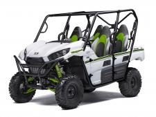 "The redesigned Teryx4™ the perfect balance of thrilling power, a smooth ride and utility making it more than ready for the most demanding adventures.  783cc V-Twin engine with strong mid-range power delivery Durable ""Double-X"" frame construction Tilt steering, Electric Power Steering (EPS) and tight 16.7-ft turning radius Fox Podium Piggyback shocks to soak up bumps Four automotive-style doors and comfortable three-tone bucket seats Backed by the industry leading Kawasaki Strong 3-Year Limited Warranty"
