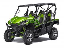 Eager for action and ready to hit the trails, the Kawasaki Teryx4™ side x side is built with the backing of over a century of Kawasaki Heavy Industries, LTD. knowledge and engineering. With the perfect combination of rugged sport performance and useful capability, the Teryx4 is up for any challenge.