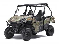 "The redesigned Kawasaki Teryx® Camo side x side is built strong to dominate the most difficult hunting terrain.  783cc V-Twin engine with strong mid-range power delivery Sporty new front end styling with LED headlights Durable ""Double-X"" frame construction Tilt steering, Electric Power Steering (EPS) and tight 16.7-ft turning radius Fox Podium Piggyback shocks to soak up bumps Premium Realtree Xtra® Green Camo bodywork Backed by the industry-leading Kawasaki Strong 3-Year Limited Warranty"