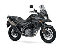 The 2016 V-Strom 650XT ABS is here to expand your field in adventure touring. Equipped with the improved performance of the original V-Strom 650 ABS, the V-Strom 650XT ABS has more adventurous styling with a distinctive front beak with integrated air ducts that lead air to the wind directing plates for improved cooling performance and aluminum reverse spoke wheels for better shock absorption and a comfortable ride. The 645 cc V-twin engine with exceptional low-to-mid rpm performance combined with striking accessories and unique styling, conveys an adventurous spirit.