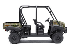 THE MULE 4010 TRANS4X4 CAMO SIDE X SIDE WITH REALTREE XTRA GREEN CAMO PATTERN EXUDES THE OUTDOOR SPORTSMAN LIFESTYLE. THIS VERSATILE MID-SIZE FOUR-PASSENGER WORKHORSE IS WELL EQUIPPED TO PUT IN A HARD DAY OF WORK AND SUPPORT HUNTING AND FISHING ADVENTURES.