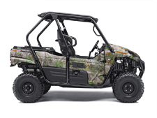THE SPORTY KAWASAKI TERYX® CAMO SIDE X SIDE IS BUILT STRONG TO DOMINATE THE MOST DIFFICULT HUNTING TERRAIN.