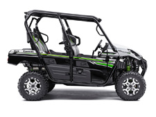 Eager for action, the Kawasaki Teryx4 side x side is built to dominate the most demanding trails. With the perfect combination of rugged sport performance and useful capability, the Teryx4 is up for a variety of challenges. Backed by the strength of Kawasaki Heavy Industries, Ltd. and the Kawasaki STRONG 3-Year Limited Warranty, the Teryx4 is a versatile side x side that you can depend on.