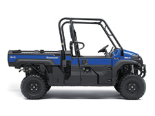 THE MULE PRO-FX EPS SIDE X SIDE HAS ELECTRIC POWER STEERING THAT SELF ADJUSTS TO DELIVER THE NECESSARY STEERING ASSISTANCE BASED ON SPEED, WHILE ALSO DAMPING KICKBACK TO THE STEERING WHEEL.