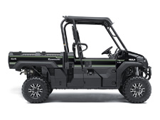 The 2017 MULE PRO-FX is our fastest, most powerful, three-passenger MULE side x side ever. Built on the same rugged platform as the MULE PRO-FXT, this revolutionary side x side also comes equipped with the largest cargo bed in its class. To top it off, the MULE PRO-FX is backed confidently by the Kawasaki STRONG 3-Year Limited Warranty.