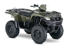 The 2017 Suzuki KingQuad 500AXi Power Steering boasts the same advanced technology as the extraordinary KingQuad 750AXi. It's engineered to help you tackle tough trails and tougher jobs. Its innovative, electronic power steering system reduces turning effort and damps vibration to the rider. The 500AXi Power Steering power plant features a precise Suzuki fuel injection system and twin iridium spark plugs ensure easy starting, excellent throttle response, great fuel efficiency, and reduced emissions. The advanced chassis lets you float over rough obstacles with ease while still being able to haul or tow what you need to get the job done.