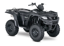 The 2017 Suzuki KingQuad 500AXi Power Steering boasts the same advanced technology as the extraordinary KingQuad 750AXi. It's engineered to help you tackle tough trails and tougher jobs. Its innovative, electronic power steering system reduces turning effort and damps vibration to the rider. The 500AXi Power Steering power plant features a precise Suzuki fuel injection system and twin iridium spark plugs ensure easy starting, excellent throttle response, great fuel efficiency, and reduced emissions. The advanced chassis lets you float over rough obstacles with ease while still being able to haul or tow what you need to get the job done. For 2017, the 500AXi Power Steering is offered in a Special Edition finish of Solid Matte Sword Black.