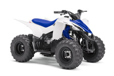 All‑New YFZ50 – Performance meets pure sport styling for 6‑year‑old and up riders ready to begin their lifelong off‑road adventure.
