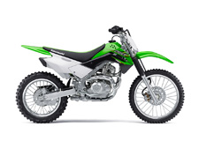 THE KLX140L OFF-ROAD MOTORCYCLE IS THE BIGGER BROTHER TO THE KLX140 AND PROVIDES A ROOMIER RIDING POSITION FOR TALLER RIDERS. IT FEATURES LARGER WHEELS AND TRAIL-ORIENTED SUSPENSION THAT STANDS UP TO MORE DEMANDING TRAIL RIDING.
