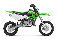 THE KX65 MOTORCYCLE IS A LIGHTWEIGHT AND HIGH-PERFORMANCE CLOSED-COURSE MINICYCLE THAT OFFERS ALL THE RIGHT TOOLS FOR YOUTH MOTOCROSS RIDERS GETTING THEIR FIRST TASTE OF COMPETITIVE RIDING.