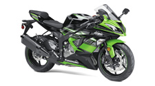 WORLD SUPERSPORT CHAMPIONSHIP TECHNOLOGY COMES TO THE MIDDLEWEIGHT CLASS WITH THE NINJA ZX-6R. 636cc inline-four engine offers racetrack-ready power yet extremely flexible delivery on the street. 3-mode KTRC traction control tuned to cover a wide-range of riding situations and conditions. Showa Separate Function Fork Big Piston (SFF-BP) offers broad adjustability and progressive damping. FCC clutch with assist and slipper functions offers light clutch pull and minimizes wheel chatter caused by aggressive downshifting. Kawasaki Intelligent anti-lock Brake System (KIBS) ABS with monobloc calipers assists braking under certain conditions. Special Kawasaki Racing Team theme featuring Lime Green/Ebony bodywork on KRT models.