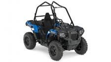 2017 POLARIS ACE 570 VELOCITY BLUE     2017 POLARIS ACE 570 VELOCITY BLUE	  2017 POLARIS ACE 570 VELOCITY BLUE  Single Seat Freedom. Absolute Adventure. That's what ACE® is all about. The single seat puts you directly in the center of the trail.Take control of your own experience and take control of your adventure with the ACE® 570. The Polaris On-Demand True AWD engages all four tires when the rear wheels slip and you need more forward traction. Reverts back to 2WD when you don't. Its simple and doesn't require pushing any extra buttons or pulling levers. When you're the center of your own experience you need to be comfortable. Comfort improvements across the line have made each MY17 ACE the most comfortable ride yet. With 10% more leg room, 13% easier entry/exit, over a gallon of cockpit storage and all new digital instrumentation, ACE has you covered. Polaris off-road vehicles have built an unprecedented reputation for work and the storage capability of ACE® is no different. With an integrated front storage compartment of nearly 3 gallons, dual dash storage trays and high-capacity cargo box, ACE® can carry up to 360 lbs of gear for any off-road adventure.