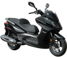 The 2017 Downtown 300i is the perfect ride for the urban warrior insomuch as it combines the open road performance of a maxi-scooter with the agility of a sport bike. This mid-range displacement cruiser is powered by a 298cc, 4-valve, fuel-injected engine mated to a lightweight dual-cradle steel chassis and a smooth-shifting CVT automatic transmission. Dual-beam quartz Halogen lights illuminate city streets and the lighted under seat storage is perfect for storing helmets or backpacks. Top it all off with a 5-in-1 ignition key lock and gas cap system and you're ready to go downtown in style.