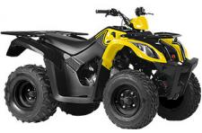 Although it is the smallest of the KYMCO Utility ATVs, the new MXU 150X plays very big. Powered by an air-cooled 149cc 4-stroke engine, the MXU 150X comes with front and rear racks that can accommodate gear up to 50 pounds and is capable of towing loads up to 220 pounds. A CVT automatic transmission with basic forward, neutral and reverse gears is standard along with pre-load adjustable shocks, drum front and single disc rear brakes, dual A-arm front suspension and swing arm rear suspension. A great entry-level utility, the MXU 150X also comes with a KYMCO rider training instructional DVD