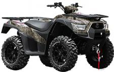 The KYMCO MXU 700i LE EPS CAMO was built to the high standards demanded by today's ATV users. It is powered by a liquid-cooled 695cc fuel-injected engine that delivers 45 trail-busting horses. With push-button, on-demand 4WD, electronic power steering, a bulletproof 3000-pound winch and 11 inches of ground clearance, the MXU 700i LE EPS CAMO delivers the complete package for the ATV enthusiast, tradesman, hunter or rancher who spends the day in the field. KYMCO's active engine braking and differential lock tame the toughest terrain and amenities abound. Get your MXU 700i LE EPS CAMO in True Timber New Conceal Camo with aluminum alloy wheels.