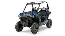 "Just because the RZR® 900 is 50″ wide doesn't mean we skimped on the power. It features the same class leading 75 HP ProStar® 900 engine as the RZR® S 900. Specifically tuned to provide maximum power without compromising drivability for razor sharp trail focused performance with hallmark ProStar® features like dual overhead cams, 4 valves per cylinder and electronic fuel injection. The modest weight and 75HP ProStar® 900 engine in the All-New RZR® 900 boasts loads of power and acceleration thanks to an incredible power to weight ratio of 6.5 HP to every 100 lbs of dry weight. 0 to 40 mph in 3.76 seconds made possible with the 75 HP ProStar® 900 engine giving you lightning quick acceleration taking you from corner to corner on the trail. With 10″ of suspension travel in the front and rear, and pre-load adjustable ZF Sachs Shocks the RZR® 900 Suspension is tuned for exactly the way you ride. The geometry designed for 50″ terrain gives you a performance based machine that's ready to tackle the trail. Up to 11″ of ground clearance allows you to navigate rocky trails and everything they throw at you with confidence. A long 79″ wheelbase gives you a smooth, well balanced ride for you and your passenger while maintaining that narrow 50"" trail capable width. With a 50"" width, just 2"" wider than many ATVs, the RZR® 900 goes where other Side x Sides can't. It's the best trail-capable Side x Side on the market.  The RZR® 900 features a narrow 13.61 ft turning radius to navigate those tight trails and also features the smoothest electronic power steering available, with Variable Assist for easier steering at lower speeds for all day comfort and performance.  The High Performance True On-Demand All-Wheel Drive System features a close ratio final drive to keep the front wheels pulling stronger and longer maximizing power delivery to the ground, even on the loosest terrain. The system provides increased traction without sacrificing steering effort to provide unmatched point-and-shoot handling."
