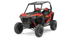 "The 100 HP ProStar® 1000 engine delivers the power & acceleration you have been waiting for in a 60″ RZR®. With 33% more horsepower than the RZR® S 900, the ProStar® 1000 engine is specifically tuned to provide maximum power without compromising drivability for RAZOR SHARP PERFORMANCE® with hallmark ProStar® features like dual overhead cams, 4 valves per cylinder and electronic fuel injection. The modest weight and 100HP ProStar® 1000 engine in the All-New RZR® S 1000 boasts loads of power and acceleration thanks to an incredible power to weight ratio of 8.1 HP to every 100 lbs of dry weight. New! Industry-exclusive Walker Evans needle shocks deliver an xtreme performance type ride and tuning capability in a RZR® S. Aside from the ingenious anti-bottom needle technology, the 2-inch diameter rear shocks feature tool-less 16-position compression dampening control, allowing you to tune for the perfect ride on the trail. A long 79″ wheelbase gives you a smooth, well balanced ride for you and your passenger while maintaining that nimble 60"" sport width. With 12.25″ of front suspension travel and 13.2″ in the rear, the RZR® S dual A-arm suspension not only gives you superior travel for a smooth ride, it packs it into a 60″ width, giving you nimble sport performance ready to tackle the trail. New! Front stabilizer bar dramatically decreases body roll and minimizes dipping around tight turns, adding to the RZR® S's legendary nimble performance on the trails. The RZR® S 1000 features a narrow 16.4′ turning radius to navigate those tight trails, and also features the smoothest electronic power steering available, with Variable Assist for easier steering at lower speeds for all day comfort and performance."