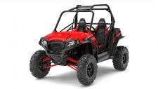 The RZR® S 570 is powered by the proven ProStar® 570 engine which features 4 valves and a dual overhead cam design. Optimized for the RZR® S 570, this ProStar® engine delivers the power of a twin cylinder but the efficiency of a single into the RZR® S platform. The front and rear dual A-Arm suspension system with a rear stabilizer bar creates a stable 60″ stance for the ultimate in trail performance, with 12″ of front travel and 12.5″ in the rear. A long 81″ wheelbase gives you a smooth ride and a full 12″ ground clearance allows you to navigate over the rocky trails and everything they throw at you with confidence. The High Performance True On-Demand All-Wheel Drive System features a close ratio final drive to keep the front wheels pulling stronger and longer maximizing power delivery to the ground, even on the loosest terrain. The system provides increased traction without sacrificing steering effort to provide unmatched point-and-shoot handling. The smoothest, most responsive electronic power steering available, with Variable Assist for easier steering at lower speeds. Our EPS lets you ride all day with less fatigue.