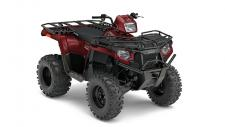 Haul and Tow more with NEW! 570 EPS Utility Edition Package  NEW! Variable Low Speed Limiter (Set 7-14 mph for spraying, mowing or other work)  Polaris Sportsman, the best selling automatic 4×4. The AWD engages all four tires when the rear wheels slip and you need more forward traction. Reverts back to 2WD when you don't. Its simple and doesn't require pushing any extra buttons or pulling levers like the competition. Engine Braking System (EBS) and Active Descent Control (ADC) work together to provide four wheel braking for optimum control and smooth, even deceleration during descents. The most integrated storage of any ATV. The 6.5 gallon capacity lets you stow-away loads of gear and still have access to it, even with items tied to the deck. Sportsman's® Integrated Winch & Plow Mount System allows you to install or remove your plow system in under a minute without the need for big bulky mounts, leaving you with full factory ground clearance for the trail. With 44 Horsepower, Electronic Fuel Injection (EFI) and Dual Overhead Cams with 4 valves per cylinder, the 570 starts flawlessly and runs smoothly in varied temperature and altitude. Sportsman 570 works harder than Honda® Foreman® with a huge 1,225 lbs. towing capacity that's 44% larger than Honda's 848 lbs. towing capacity. The Polaris Sportsman Lock and Ride Accessory system allows you to adapt on the fly and accessorize your ATV to tackle any task you throw at it. Sportsman ATVs have hundreds of Lock and Ride accessories to convert your vehicle from a trail machine, to the ultimate work or hunt machine in just seconds. When you need an ATV that can adapt to any task, you need a Sportsman.