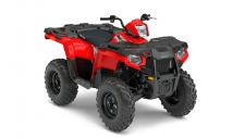 Polaris Sportsman, the best selling automatic 4×4. The AWD engages all four tires when the rear wheels slip and you need more forward traction. Reverts back to 2WD when you don't. Its simple and doesn't require pushing any extra buttons or pulling levers like the competition. Engine Braking System (EBS) and Active Descent Control (ADC) work together to provide four wheel braking for optimum control and smooth, even deceleration during descents. The most integrated storage of any ATV. The 6.5 gallon capacity lets you stow-away loads of gear and still have access to it, even with items tied to the deck. Sportsman's® Integrated Winch & Plow Mount System allows you to install or remove your plow system in under a minute without the need for big bulky mounts, leaving you with full factory ground clearance for the trail. With 44 Horsepower, Electronic Fuel Injection (EFI) and Dual Overhead Cams with 4 valves per cylinder, the 570 starts flawlessly and runs smoothly in varied temperature and altitude. Sportsman 570 works harder than Honda® Foreman® with a huge 1,225 lbs. towing capacity that's 44% larger than Honda's 848 lbs. towing capacity. The Polaris Sportsman Lock and Ride Accessory system allows you to adapt on the fly and accessorize your ATV to tackle any task you throw at it. Sportsman ATVs have hundreds of Lock and Ride accessories to convert your vehicle from a trail machine, to the ultimate work or hunt machine in just seconds. When you need an ATV that can adapt to any task, you need a Sportsman.