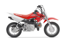 Bet you remember your first motorcycle ride like it was yesterday. Bikes are a great part of life—they make everything a little more fun and a little more memorable. So when it's time to get your young Red Rider on his or her first bike, make sure you pick a machine they'll have nothing but great memories on: A Honda CRF50F.