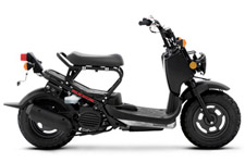 Meet the bad boy of Honda's scooter family, the urban, street-smart hustler that packs as much feisty, fuel-efficient performance as it does gritty attitude. Want to make a statement? Then ride a Ruckus.