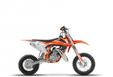 The KTM 50 SX is a true KTM for young MX riders that are READY TO RACE. It is a genuine dirt bike that, like its bigger siblings, is produced with top-quality components. This makes the KTM 50 SX the first choice as a stepping stone into the world of MX or for the first racing step on the ladder. With the youngster in mind this package has an engine that delivers steady, controllable power, incorporating an automatic clutch that is ideal for novice riders. This model features revolutionary WP AER 35 front fork, fully adjustable rear suspension, ultra cool graphics and the ability to make going fast, fun.