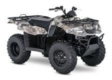 Whether you're working hard or getting away from it all, the 2018 Suzuki KingQuad 400ASi helps you every step of the way. The fully automatic Quadmatic transmission has two and four-wheel drive modes to handle rough trail conditions while completing even the most demanding chores. Along with exceptional engine performance across the powerband, its high-performance iridium spark plug and Pulsed-secondary AIR-injection (PAIR) system helps provide outstanding fuel efficiency, and clean emissions.  For the true outdoor enthusiasts, the 400ASi is offered in True Timber camouflage to help you blend in when you don't want to be seen.