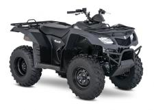 Whether you're working hard or getting away from it all, the 2018 Suzuki KingQuad 400ASi helps you every step of the way. The fully automatic Quadmatic transmission has two and four-wheel drive modes to handle rough trail conditions while completing even the most demanding chores. Along with exceptional engine performance across the powerband, its high-performance iridium spark plug and Pulsed-secondary AIR-injection (PAIR) system helps provide outstanding fuel efficiency, and clean emissions.  For 2018, the KingQuad 400ASi is available in a Special Edition finish of Solid Matte Sword Black.