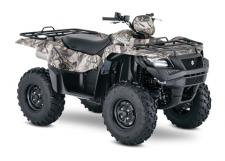 Taking advantage of Suzuki's three-decades-plus experience with four-wheelers, the 2018 Suzuki KingQuad 750AXi is designed for phenomenal performance on the trail or on the job. Its fuel-injected engine features a twin-spark-plug cylinder head with iridium, projection-type spark plugs, and refined intake and exhaust cam profiles for quick starting in cold weather and smooth, strong overall performance. The KingQuad's advanced chassis lets you float over rough obstacles with ease while still being able to haul or tow what you need to get the job done.  For the true outdoor enthusiasts, the 750AXi is offered in True Timber camouflage to help you blend in when you don't want to be seen.